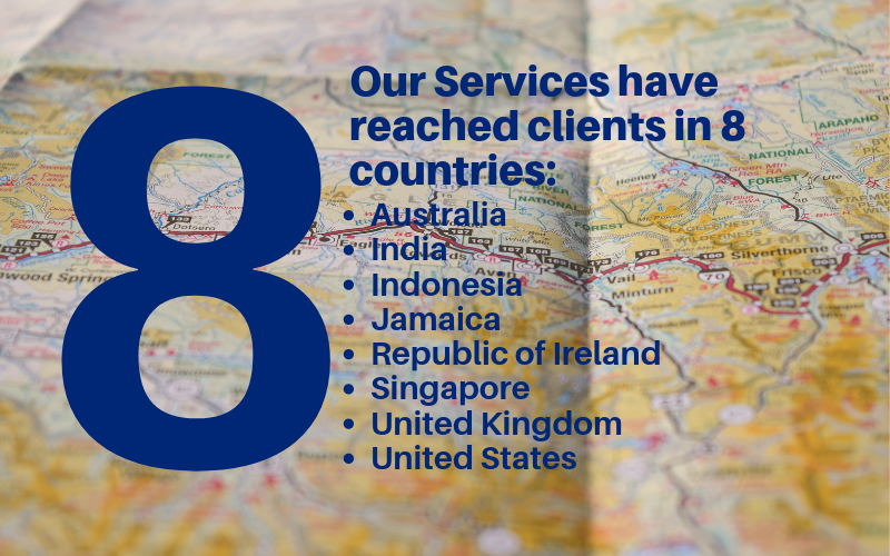 We reach clients in 8 countries